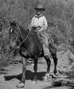 Polly Hicks Brown, rancher, hotel owner, freight driver, and business woman was always at home on a horse.Her businesses included the Herron Hotel, Elk Bar, Sixteen-to-One Saloon, Cowboy Corral on the Beeline and the Rim View Motel.